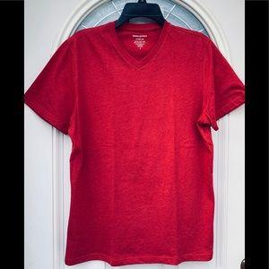 Banana Republic Factory Red Short Sleeve Shirt